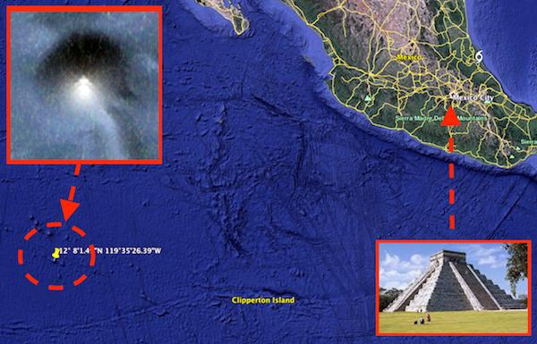 Google Earth phát hiện ra kim tự tháp ngoài khơi bờ biển Mexico - Ảnh 1.