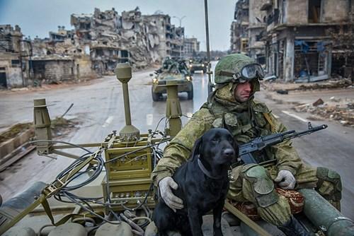 Công binh Nga cày xới từng mét đất Aleppo - Ảnh 1.