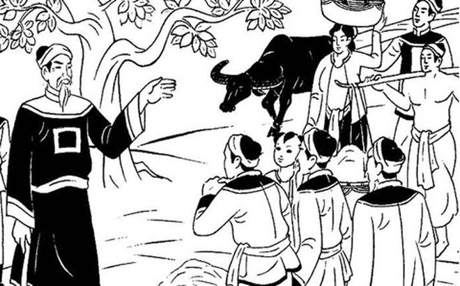 Chỉ với 1 câu đối, ông lão cưỡi bò khiến quan huyện quỳ xuống lạy như tế sao - ảnh 2