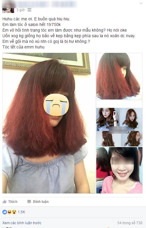 Tốn gần 2 triệu làm tóc xoăn ăn Tết, cô gái đau đớn nhận được quả đầu xù như... râu ngô - ảnh 1