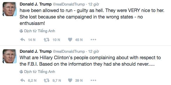 Ông Trump chỉ trích bà Clinton tội lỗi chồng chất - ảnh 1