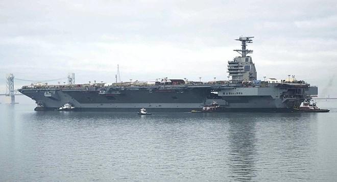 Mỹ chuẩn bị có tàu sân bay có thể trang bị pháo laser hiện đại - Ảnh 1.