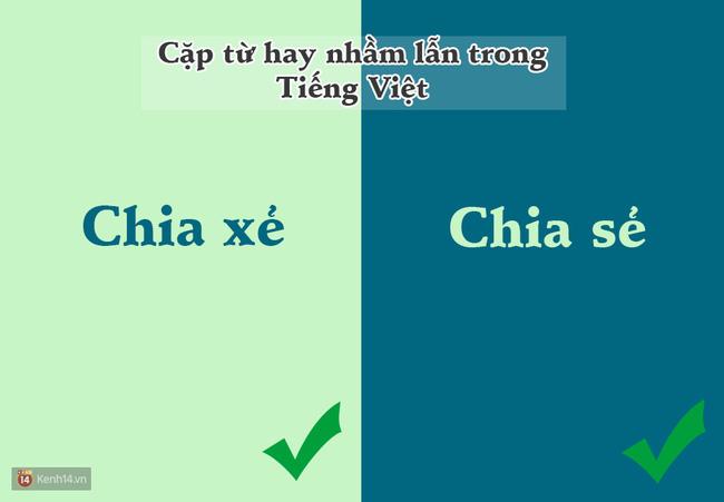 10 cặp từ ai cũng hay bị lẫn lộn trong Tiếng Việt - Ảnh 1.