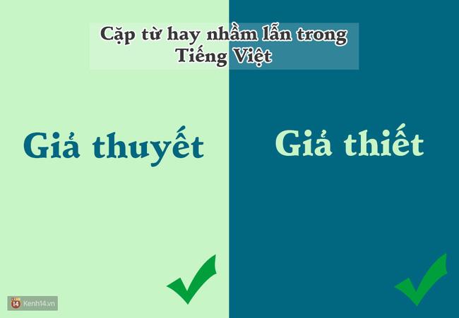 10 cặp từ ai cũng hay bị lẫn lộn trong Tiếng Việt - Ảnh 2.