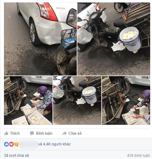 Đâm phải ô tô, người phụ nữ chở đậu hũ sững sờ trước cách ứng xử của chủ xe - ảnh 3