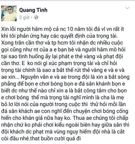 Cầu thủ Cần Thơ 'năn nỉ' còi Vàng Việt Nam bắt công tâm - Ảnh 1.