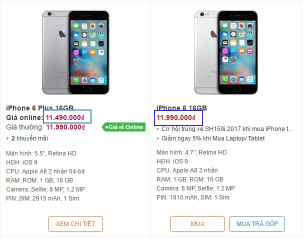 iPhone 6 Plus giá rẻ hơn iPhone 6 tại Việt Nam - Ảnh 1.