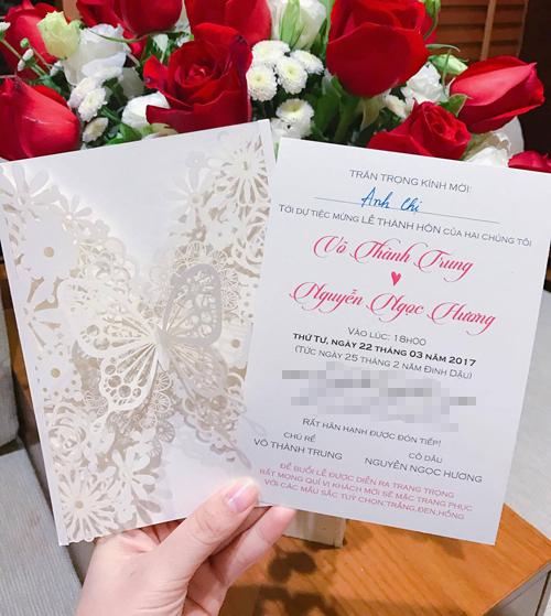 Lộ thiệp cưới cầu kì của MC Thành Trung và bạn gái 9x - Ảnh 2.