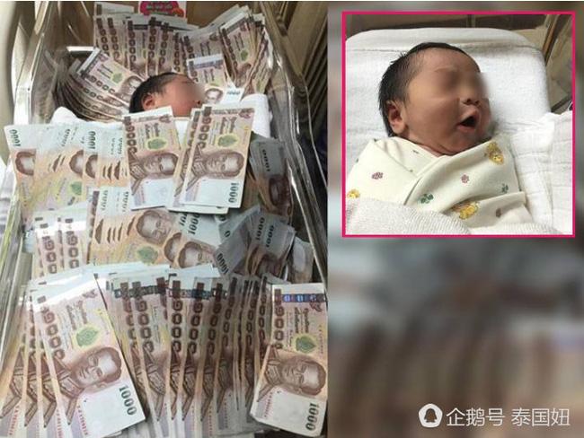 Đứa trẻ sơ sinh ngủ giữa đống tiền và nguyên do khiến nhiều người không khỏi ngao ngán - Ảnh 1.