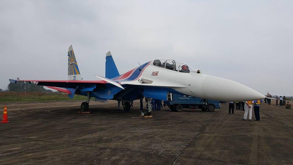 Hình ảnh phi đội Su-30SM tại Nội Bài