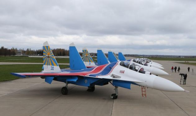 5 chiếc Su-30SM đã hạ cánh xuống Nội Bài