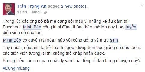 Minh Béo bị phản đối khi tuyển sinh đào tạo diễn viên - Ảnh 1.