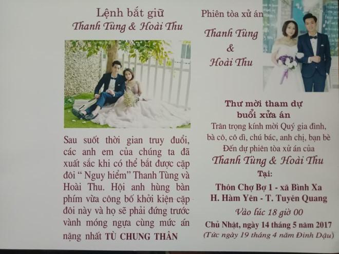 Thiệp cưới lệnh truy nã độc đáo của đôi trẻ Tuyên Quang - Ảnh 2.