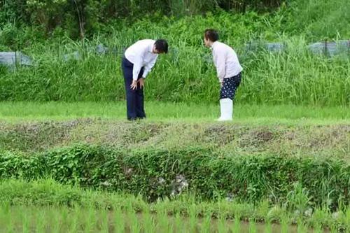 Nhân viên đoàn hộ tống Thủ tướng Nhật Bản cúi đầu chào và cảm ơn người đi xe đạp vì đã nhường đường - Ảnh 2.