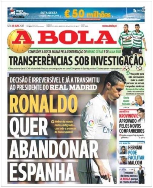 Báo chí châu Âu khẳng định: Ronaldo đòi rời Tây Ban Nha! 1