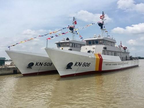 Nhà máy X51 hạ thủy hai tàu kiểm ngư thiết kế KN 3600 - ảnh 2