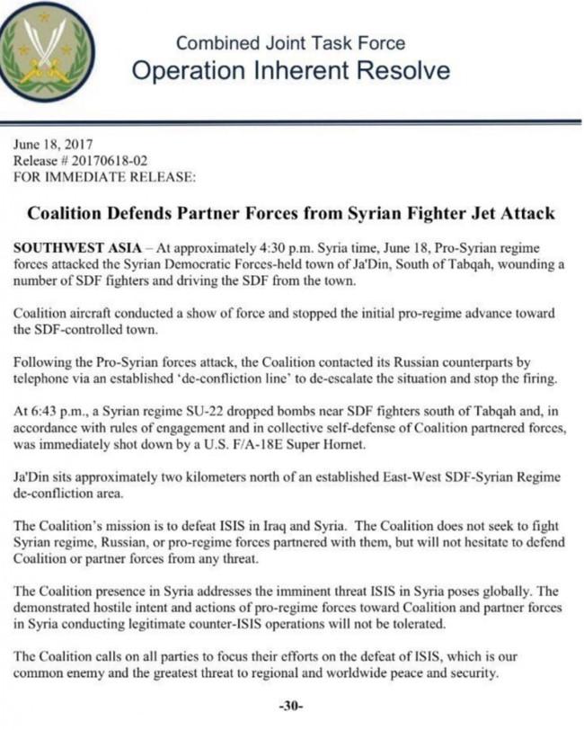 Mỹ bắn hạ chiến đấu cơ Syria, cuộc chiến xí phần bắt đầu khốc liệt - ảnh 2