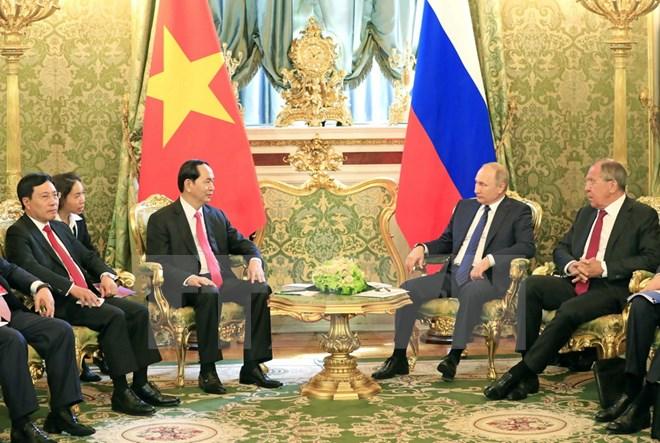 Chủ tịch nước Trần Đại Quang hội đàm với Tổng thống Nga Putin - Ảnh 1.