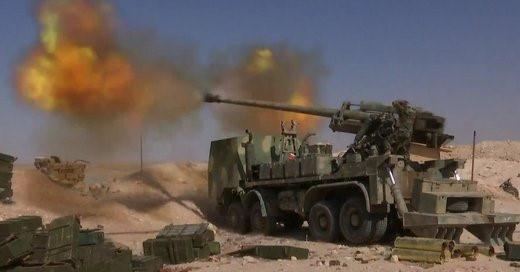 Pháo tự hành tung hoành trên chiến trường Syria - Ảnh 1.