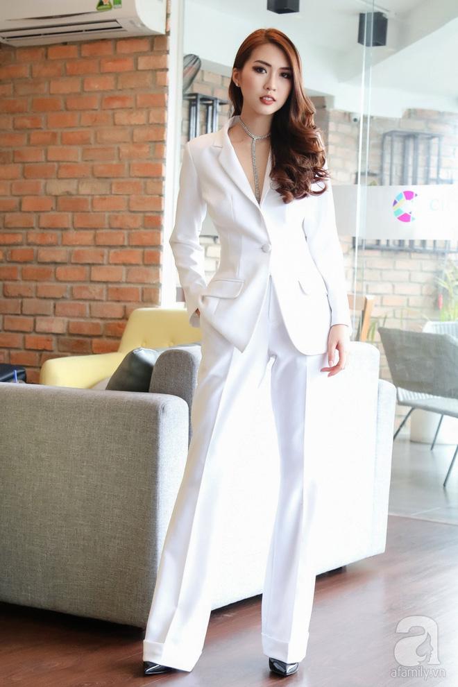 Hoa hậu Tường Linh: Mỗi ngày ngủ được 2 tiếng, nói thí sinh The Face như hot girl kem trộn là thiếu công bằng! - Ảnh 1.