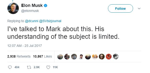 """Elon Musk bảo hiểu biết về trí tuệ nhân tạo của Mark Zuckerberg còn """"rất hạn chế"""" - Ảnh 1."""