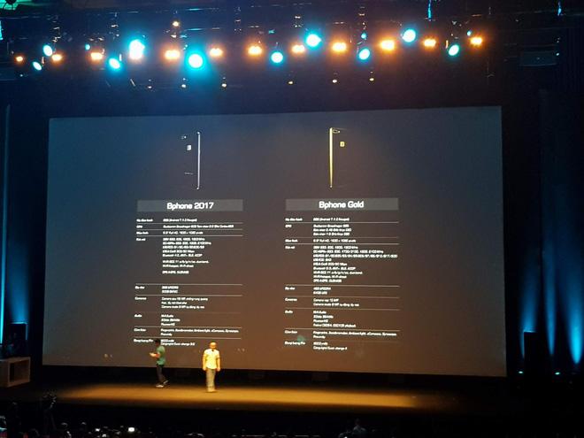 Bphone 2017 có phiên bản Gold ấn tượng với camera kép, chip Snapdragon 835, nhưng chưa sản xuất được? - Ảnh 2.