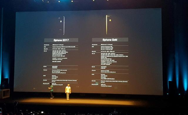 Xếp Bphone 2017 Gold ngang tầm iPhone7 Plus và Galaxy S8, BKAV tuyên bố phiên bản siêu cao cấp này sẽ bán tại Dubai, không có ở Việt Nam - Ảnh 1.