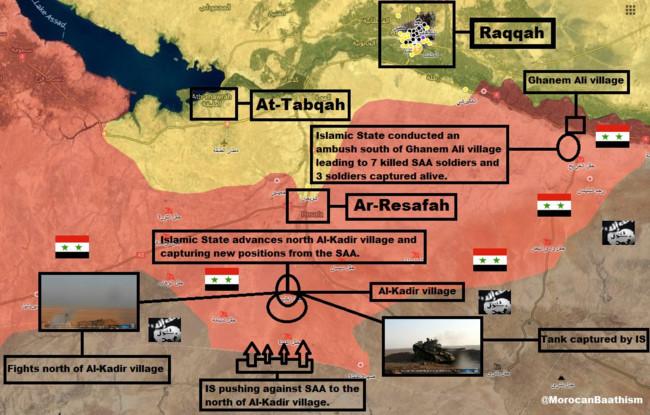Quân đội Syria bất ngờ hứng thất bại trước IS ở Raqqa - Ảnh 1.