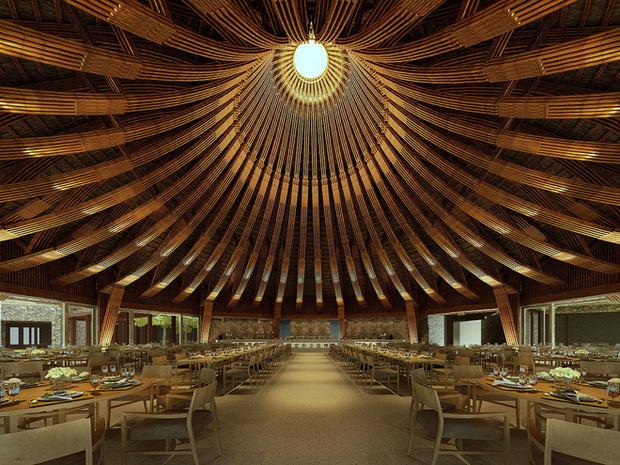 Nhà hàng hình nón làm từ 150.000 cây tre ở Kim Bôi khiến tạp chí kiến trúc Mỹ hết lời khen ngợi - Ảnh 1.