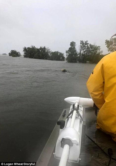[Ảnh] Bão Harvey biến đường cao tốc Houston thành biển nước, sóng đánh dập dìu - Ảnh 4.