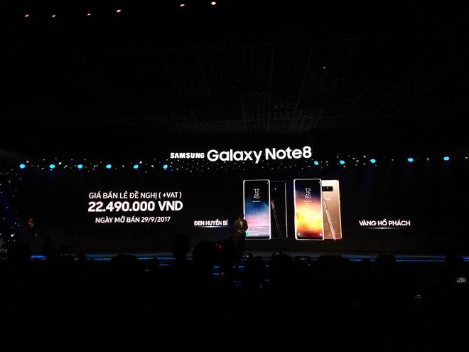 Samsung Galaxy Note8 chính thức ra mắt tại Việt Nam: Thiết kế ấn tượng, camera kép xóa phông chủ động, giá 22,5 triệu - Ảnh 1.