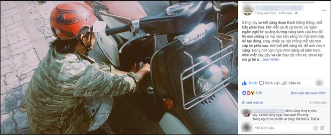 Hết xăng giữa đường vắng và câu nói của chàng trai chạy xe nát làm cô gái mỉm cười - ảnh 1