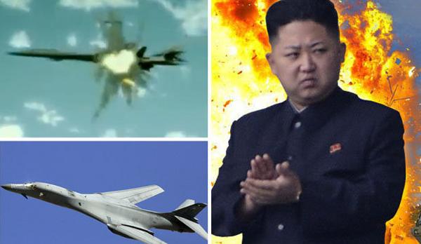 Triều Tiên tung ảnh dọa bắn cháy tàu sân bay Mỹ - Ảnh 1.