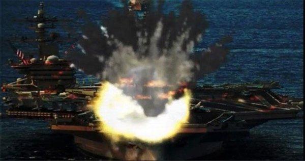 Triều Tiên tung ảnh dọa bắn cháy tàu sân bay Mỹ - Ảnh 2.