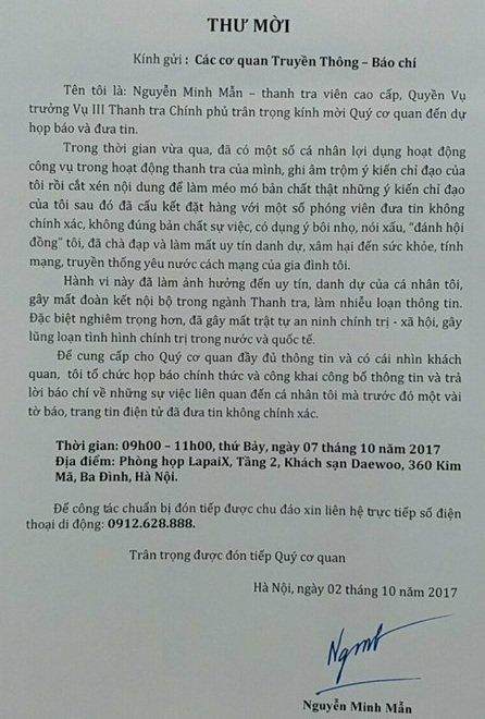 Ông Nguyễn Minh Mẫn họp báo vụ bị cho là dạy cách bịt thông tin - Ảnh 1.