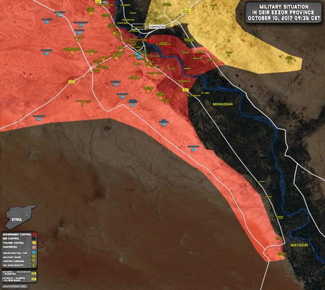 Chiến sự Syria: Quân Assad vây diệt IS tại chảo lửa Deir Ezzor - Ảnh 1.