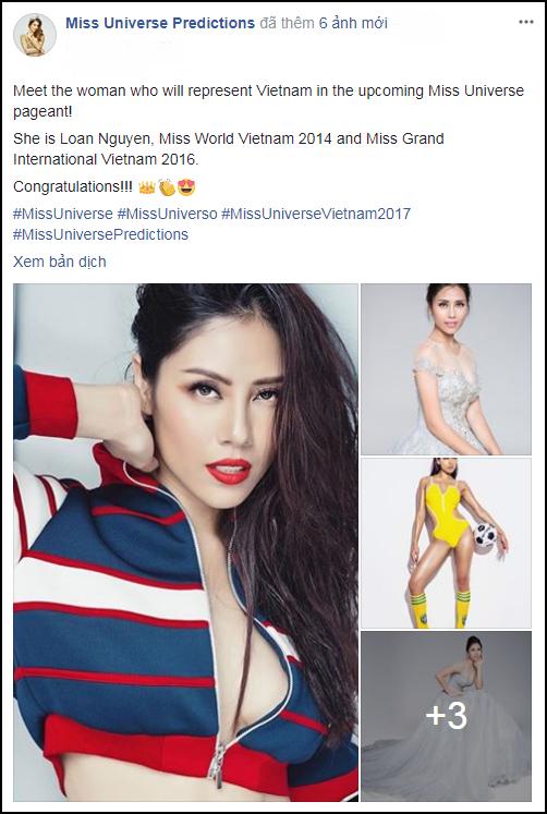 Diễn đàn quốc tế nô nức đăng tin Nguyễn Thị Loan dự thi Hoa hậu Hoàn vũ Thế giới 2017 - Ảnh 2.