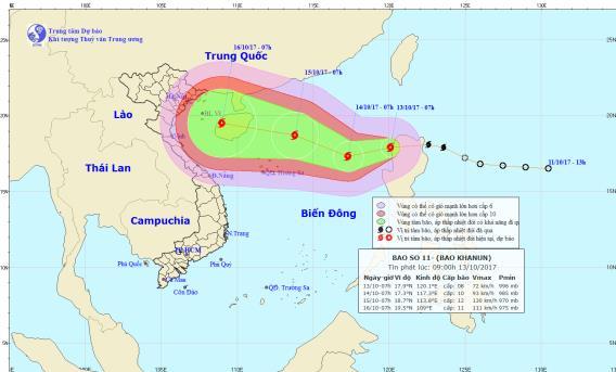 Bão số 11 đã đi vào Biển Đông, miền Bắc nguy cơ lụt nặng - Ảnh 1.