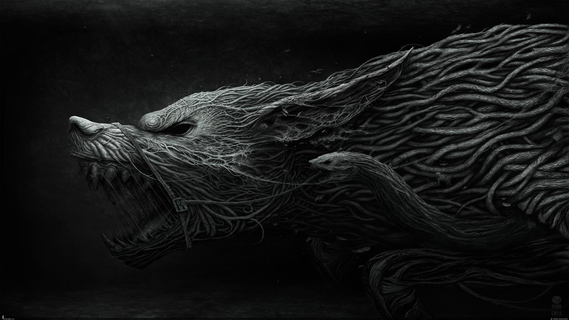Image of Fenrir Wolf Norse Myth