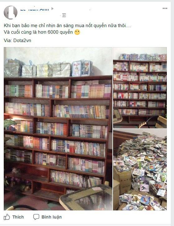 Thanh niên nhịn ăn sáng suốt 16 năm để mua hơn 6000 quyển truyện tranh - ảnh 1