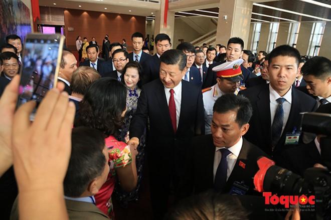 Tổng Bí thư, Chủ tịch Trung Quốc Tập Cận Bình dự lễ khánh thành Cung hữu nghị Việt - Trung - Ảnh 2.