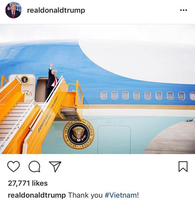 Tổng thống Trump đăng ảnh thăm chính thức Việt Nam, cảm ơn Chủ tịch nước Trần Đại Quang - Ảnh 2.
