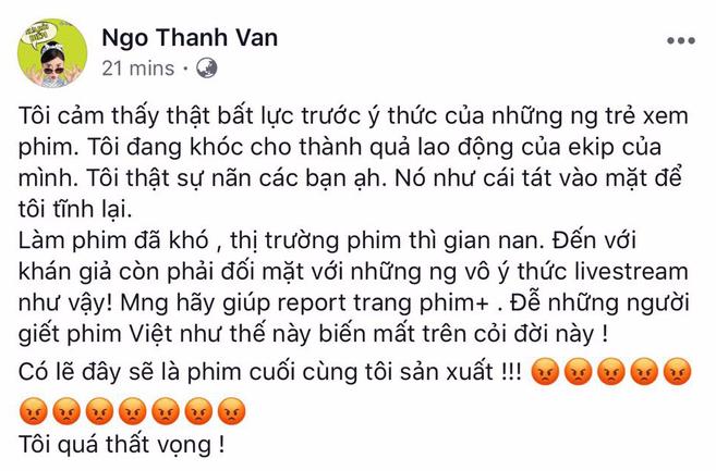 """Ngô Thanh Vân """"trưng cầu dân ý"""" cách xử lý người livestream lén Cô Ba Sài Gòn - Ảnh 1."""