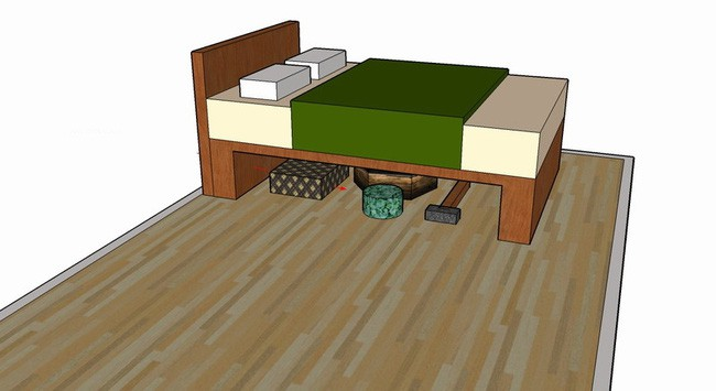 Cất đồ dưới gầm giường, là bạn đang tự hại mình mà không hề hay biết - Ảnh 2.