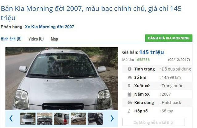 Dưới 140 triệu đồng, mua được ô tô cũ chính hãng nào? - Ảnh 1.