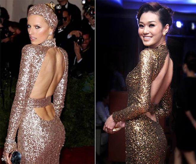 Liên tục bị tố mặc váy nhái, hai người đẹp Việt vẫn thản nhiên như không - Ảnh 5.