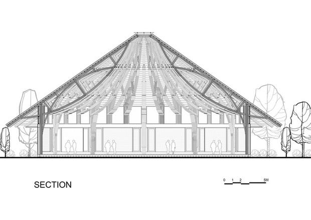 Nhà hàng hình nón làm từ 150.000 cây tre ở Kim Bôi khiến tạp chí kiến trúc Mỹ hết lời khen ngợi - Ảnh 14.