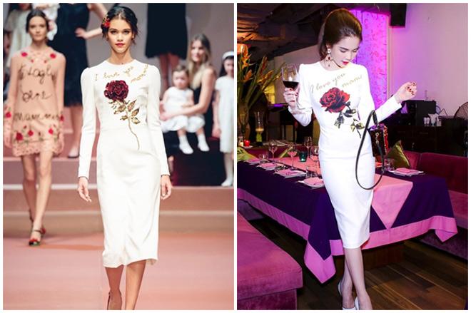 Liên tục bị tố mặc váy nhái, hai người đẹp Việt vẫn thản nhiên như không - Ảnh 7.
