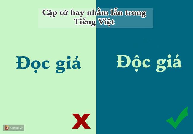 10 cặp từ ai cũng hay bị lẫn lộn trong Tiếng Việt - Ảnh 3.