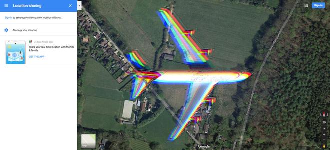 Hình ảnh hiếm có: bằng vệ tinh, Google Maps chụp được cảnh một chiếc máy bay đang lơ lửng giữa trời - Ảnh 3.